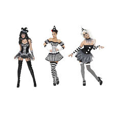 Costume Clown Pierott Donna Chic Sexy Per Halloween Carnevale IT 42-52