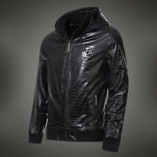 Philipp Plein Men Leather Jacket Motorcycle Men Season Winter Slim 2014