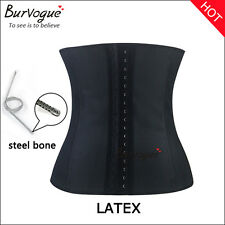 sport Latex steel bone corsets waist training Cincher Girdle body control shaper