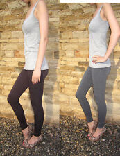 EXTRA LONG Leggings Tall Viscose Stretch Chocolate Grey Size 8 10 12 14 16 18