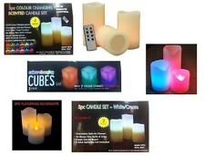 NEW COLOUR CHANGING LED FLAMLESS MOOD WAX CANDLES SOME WITH/WITHOUT REMOTE TIMER