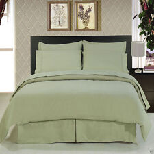 8pc Luxury Soft Sage Green Bedding w/Microfiber Sheets Duvet Cover & Comforter