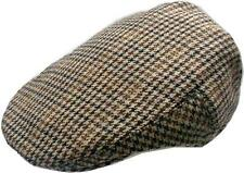 Mens wool blend plaids Ivy Golf Driver hat Irish hunting Gatsby flat hat -Checks