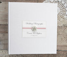 Large Personalised Wedding Photograph Album. 50 pages/100 Sides. Vintage Jewel.