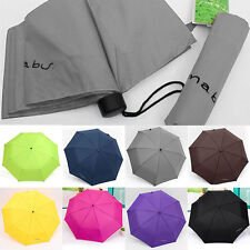 New Portable Anti-uv Waterproof Mini Compact Folding Triple folding Umbrella