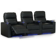 Octane Turbo XL700 Row of 3 Seats In Black Leather