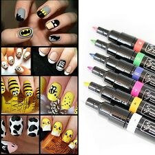 Nail Art Pen Polish Painting Dot Drawing UV Gel Design Manicure Tool 16 Colors