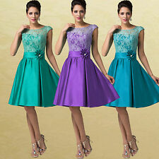FREE SHIP cheap~ Knee Length Formal Ball Party Cocktail Evening Bridesmaid Dress