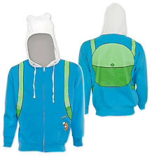 Adventure Time Jake in Pocket Hoodie I am Finn Halloween Costume Adult Sweater