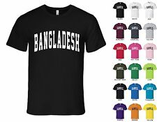 Country of Bangladesh College Letters Font T-shirt