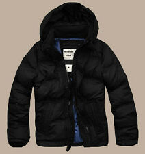 Men's Down Coats Jackets With Hood Puffer Goose Feather Solid Black S M L XL