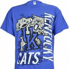 University of Kentucky Super Cats Blue Tee Shirt KY Wildcats Basketball