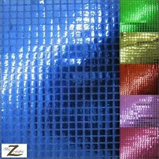 "SQUARE SEQUINS HOLOGRAM FABRIC - 7 Colors - 44""/45"" WIDTH SOLD BY THE YARD"