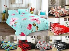 Floral Bedding Set Quilt Cover Duvet Cover with Pillow Case Single Double King