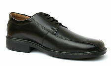 Renaissance UK 7 & 8 Mens Black Leather Lace Up Smart Casual/Formal New Shoes