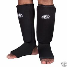 ARD Shin Instep Protectors, Guards Pads Boxing, MMA, Muay Thai Black S,M, L, XL