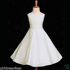 IVORY A-LINE WEDDING FORMAL PARTY FLOWER GIRL DRESS 12-18M 2 3/4 6 8 10 12 14 16