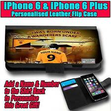 PERSONALISED WOLVERHAMPTON WANDERERS UNOFFICIAL iPHONE 6 & 6 PLUS LEATHER CASE