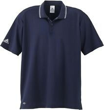 New Mens Adidas Athletic Climalite Golf Polo Shirt Small A14 Short Sleeve Navy S