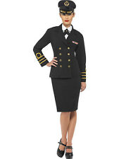 LADIES NAVY OFFICER FEMALE BRITISH UNIFORM WOMANS ADULT FANCY DRESS COSTUME