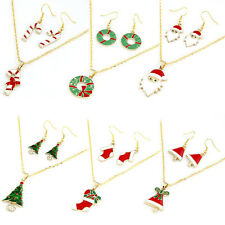 Hot Selling Fashion Chain Jewelry Bib Christmas Gift Necklace Earrings glamor