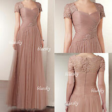 Tulle Mother of the Bride Dresses Formal Evening Wedding Ball Gown Size 0-8-20++