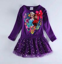 Vestito tutù manica lunga  2-6 anni - Girl dress 2-6 years - Frozen - A00029