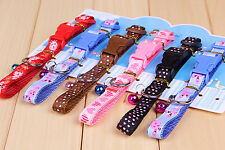 Pet Product Bell Cartoon images Heart-shaped pattern Cat and dog collars Nylon