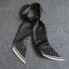 Luxurious Gift!  Mens 100% Silk Mulberry Scarf/Cravat Double Layer Black