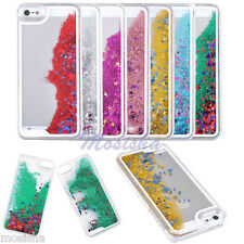 Colorful Glitter Stars Bling Dynamic Liquid Quicksand Case Cover For iPhone 5 5S