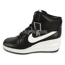 WMNS Nike Lunar Force 1 Sky Hi [654848-002] NSW Casual Wedge Black/White