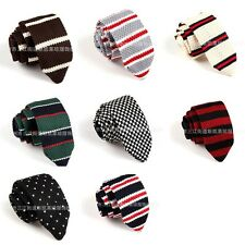 D.berite Men's Casual Colourful Tie Knit Knitted Tie Necktie Narrow Skinny Woven