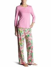 Lilly Pulitzer Pick Of The Bunch Sateen Long Sleeve Pajama Set Sizes XS BNWT