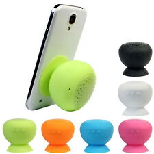 Mini Waterproof Wireless Bluetooth Handsfree Mic Suction Speaker Shower Car SU
