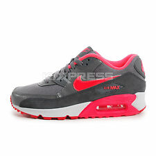 Nike WMNS Air Max 90 Essential [616730-009] NSW Running Grey/Hyper Punch-Red