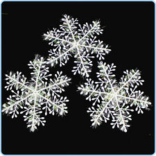 CHRISTMAS TREE Decoration / Table Confetti 10cm SNOWFLAKES -SET of 3 or more