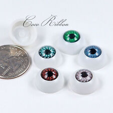 16mm Round Eyeball Evil Eye Spooky Resin Cabochons - 10/20/50 Pieces