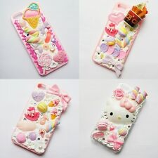 SALE Unique Whipped Cream For iPhone Samsung Handmade Decoden Phone Case Full Ve