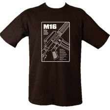 MILITARY M16 RIFLE T-SHIRT 100% COTTON LOOSE FIT ASSAULT WEAPON BRITISH ARMY