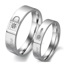 "Hot""Real Love"" Titanium Steel Promise Matching Couple Rings Wedding Band Lover"