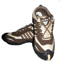 Alex Sports Cool Air Brown and White Running Shoes
