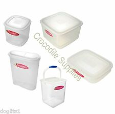 Clear Plastic Bird Rabbit Hamster Food Storage Bins Boxes Containers Pots Tubs