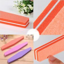 10pcs Nail Art Tool Tips Buffer 100/180 Sandpaper Sanding Block Buffing Files