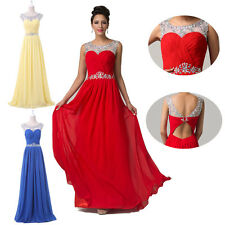 Quinceanera Sexy Women Chiffon Long Gowns Dresses Bridesmaids Formal Party Dress