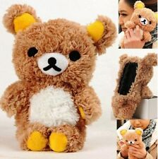 Cute 3D Teddy Bear Doll Toy Cool Plush Case Cover For Apple Samsung Mobile Phone