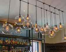 Multiple Shape DIY Ceiling Lamp Light Glass Pendant Lighting Edison Bulb Cafe