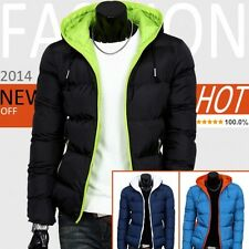 2014 mens winter jacket hooded wadded coat thickening outerwear male slim casual