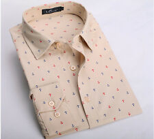 T226 New Mens Long Sleeve Luxury Casual Slim Stylish Dress Shirts 4 Color