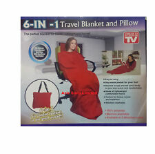 NEW 6-IN-1 TRAVEL BLANKET AND PILLOW SIMILAR TO AS SEEN ON TV