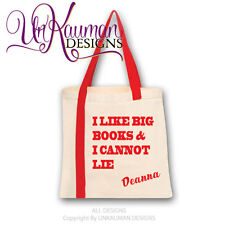 """Book/Tote Bag """"I like big books and I cannot lie"""" Personalized with name"""